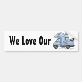 Over Cab Camper RV Bumper Sticker