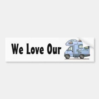 Over Cab Camper RV Bumper Sticker