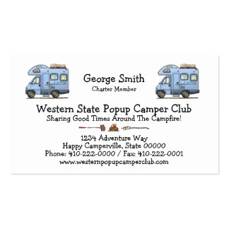 Over Cab Camper RV Business Card