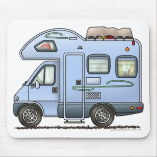 Over Cab Camper RV Mousepad