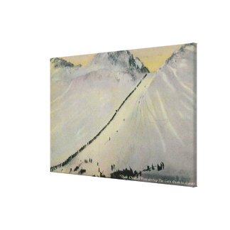 Over Chilkoot Pass During Gold Rush, Alaska Canvas Print