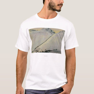 Over Chilkoot Pass During Gold Rush, Alaska T-Shirt