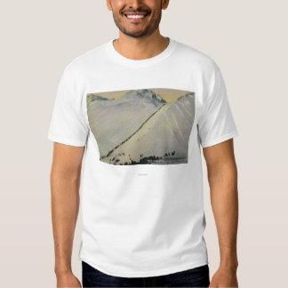 Over Chilkoot Pass During Gold Rush, Alaska Tee Shirt