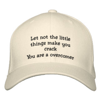 Over Comer_ Embroidered Hat_by Elenne Embroidered Baseball Cap