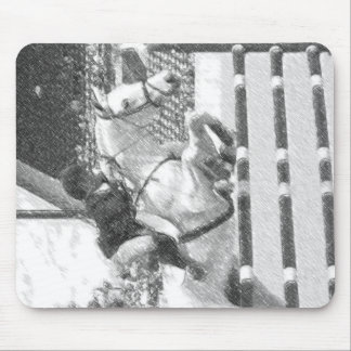 Over Easy - hunter jumper equestrian Mouse Pad
