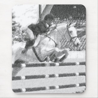 Over Easy - hunter jumper Mouse Pad
