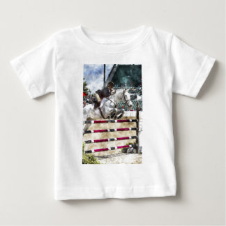 Over Easy Hunter Jumper Show Jumping Baby T-Shirt