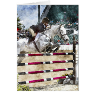Over Easy Hunter Jumper Show Jumping Card