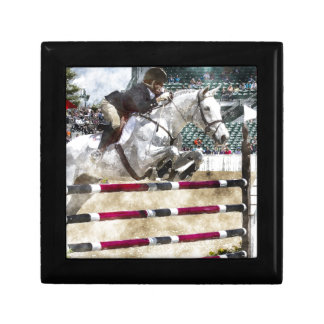 Over Easy Hunter Jumper Show Jumping Keepsake Boxes