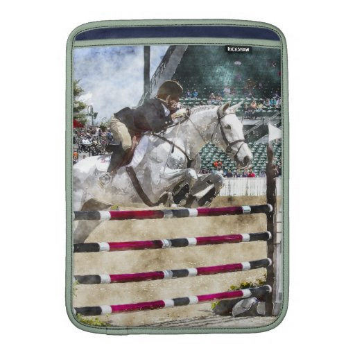 Over Easy Hunter Jumper Show Jumping MacBook Air Sleeve
