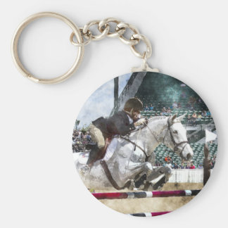 Over Easy Hunter Jumper Show Jumping Keychains