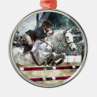 Over Easy Hunter Jumper Show Jumping Metal Ornament