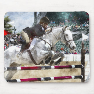 Over Easy Hunter Jumper Show Jumping Mouse Pad
