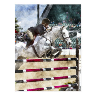 Over Easy Hunter Jumper Show Jumping Postcard