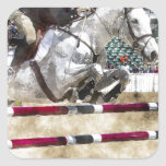 Over Easy Hunter Jumper Show Jumping Square Sticker