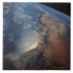 Over Gulf of Aden and Somalia Large Square Tile