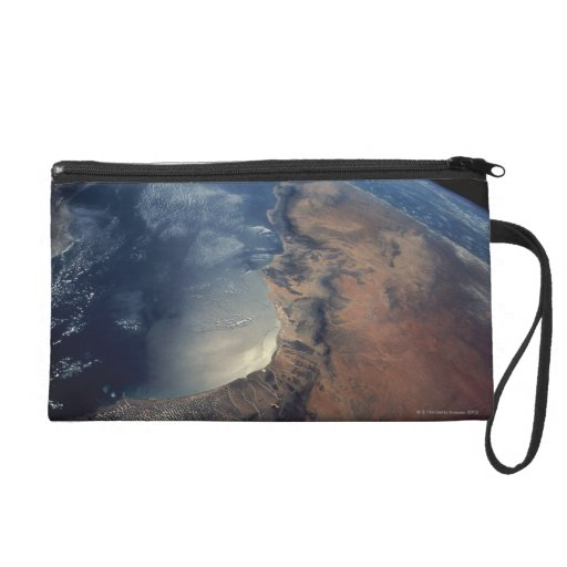 Over Gulf of Aden and Somalia Wristlet Clutch