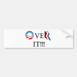Over It! Bumper Sticker