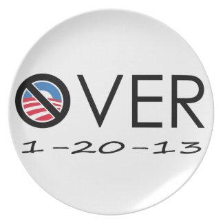 OVER Obama Melamine Plate