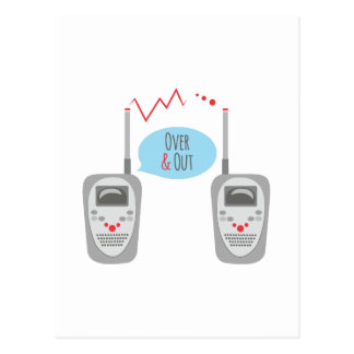 Over & Out Postcard