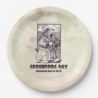Over Rated? Groundhog Day Party Paper Plate
