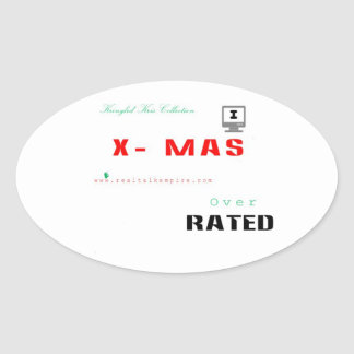 Over Rated xmas - sticker