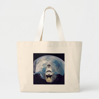Over shuttle view large tote bag