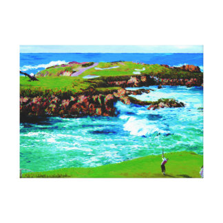 Over The Breakers At 16th on Canvas