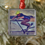 Over the Edge - Stunt-Scooter Champ Metal Ornament