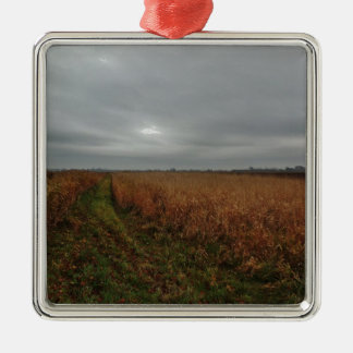 Over the fields metal ornament