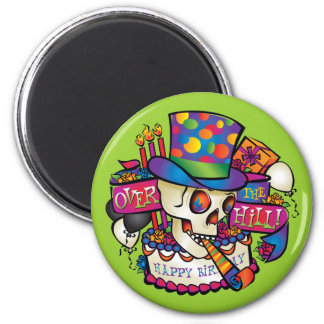Over the Hill 2 Inch Round Magnet