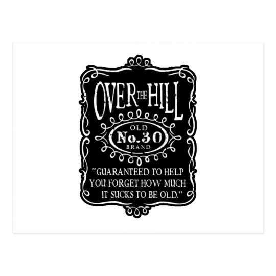 Over The Hill 30th Birthday Postcard