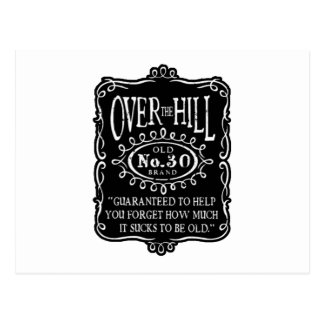 Over The Hill 30th Birthday Postcards