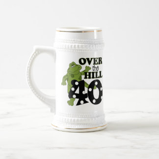 Over The Hill 40th Birthday Beer Stein