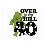 Over The Hill 40th Birthday Post Card