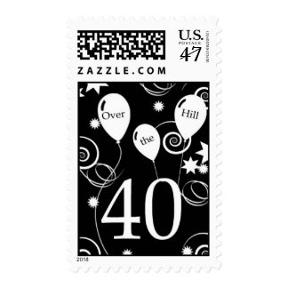 Over the Hill 40th Birthday Postage