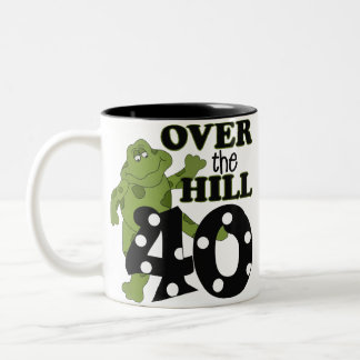 Over The Hill 40th Birthday Two-Tone Coffee Mug