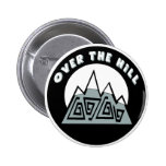 Over The Hill 50th Birthday Button