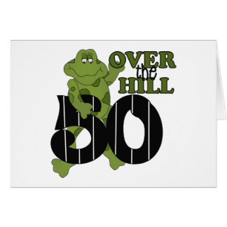 Over The Hill 50th Birthday Card