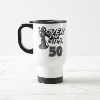 Over The Hill 50th Birthday Gift Travel Mug