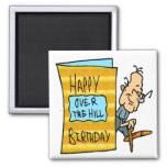Over The Hill 50th Birthday Gifts Fridge Magnets