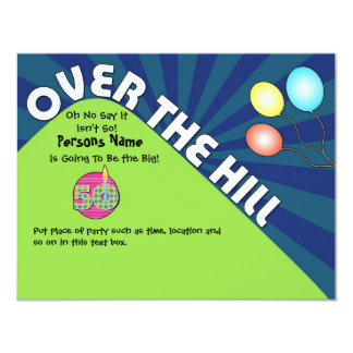 Over the Hill 50th Birthday Invite Customize Text