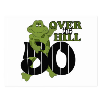 Over The Hill 50th Birthday Postcard