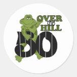 Over The Hill 50th Birthday Round Sticker