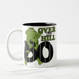Over The Hill 50th Birthday Two-Tone Coffee Mug