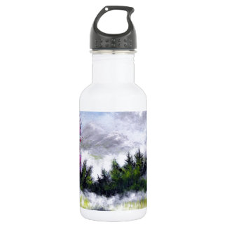 Over the Hill and Ove the Mountains Design Stainless Steel Water Bottle
