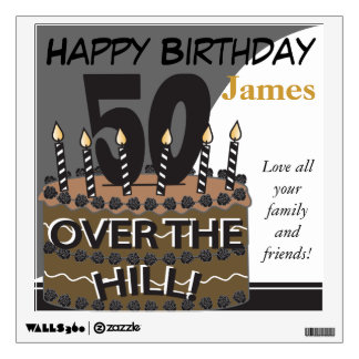 Over the Hill at Fifty Wall Decal