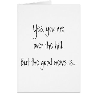 Over the hill - birthday card