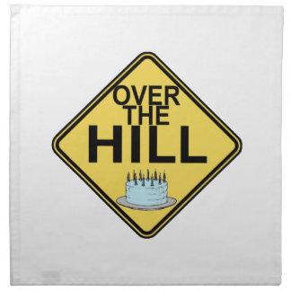 Over The Hill Birthday Cloth Napkin