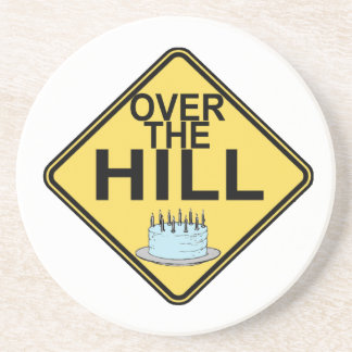 Over The Hill Birthday Coaster